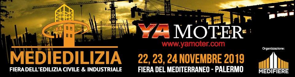 Yamoter partecipa alla Fiera dell'Edilizia civile e industriale - Fiera del Mediterraneo il 22, 23, 24 Novembre 2019